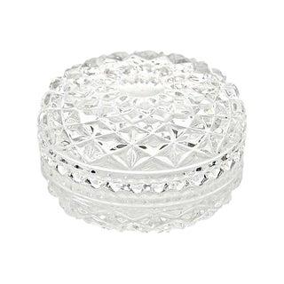 Diamond Pattern Glass Box For Sale