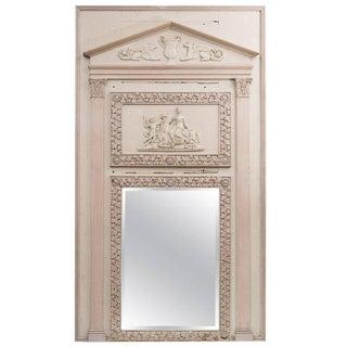 White Neoclassical Trumeau Mirror