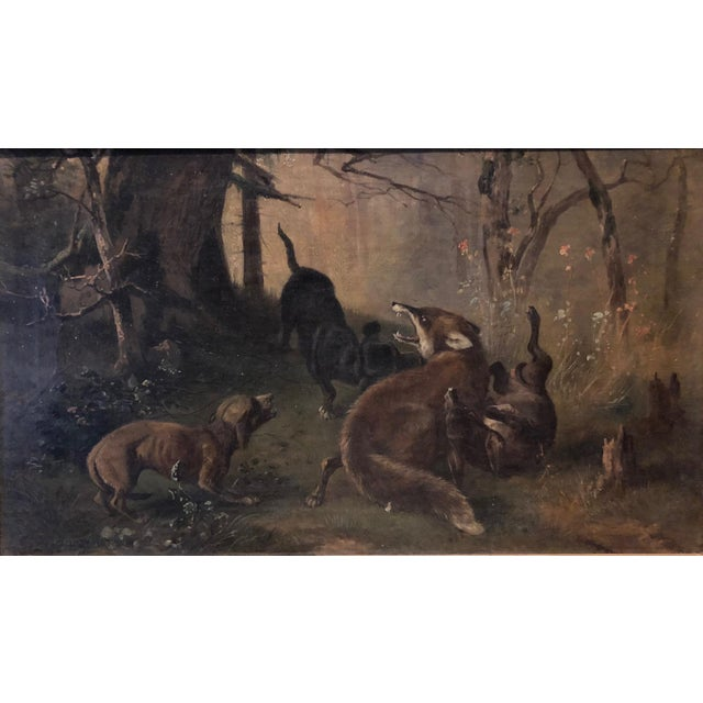 Late 19th Century Antique Karl (Carl) Reichert Victorian Oil Painting For Sale - Image 4 of 13