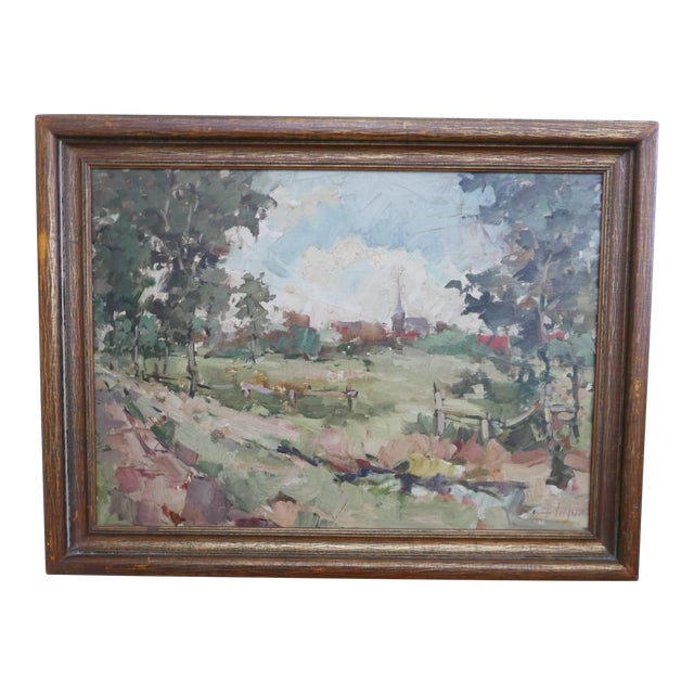Antique Dutch Landscape Oil Painting For Sale