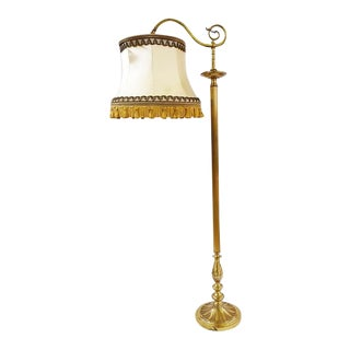 Antique French Brass Floor Lamp For Sale