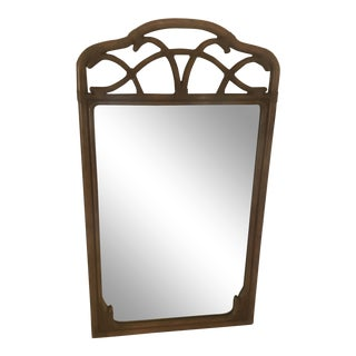 Hollywood Regency Brown Faux Bamboo Mirror For Sale