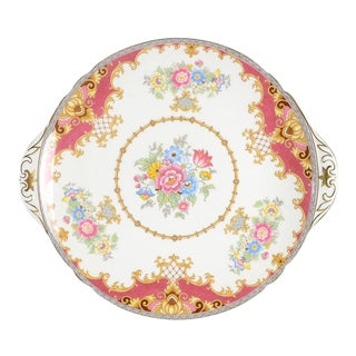 Shelley Sheraton Pink Round Handled Serving Plate
