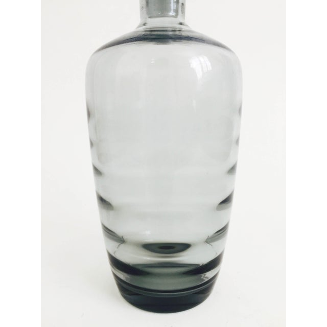 Mid Century Gray Smoke Glass Decanter - Image 4 of 6