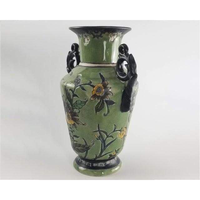 Monumental Baum Bros Vase - Jacobean Urn With Handles For Sale - Image 4 of 13