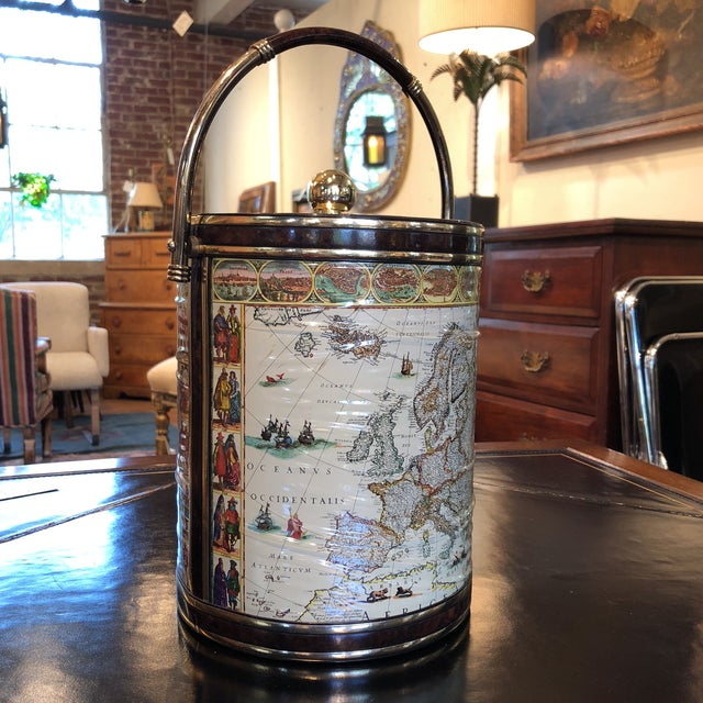 Mid-Century Map Ice Bucket - Image 4 of 11