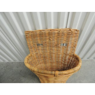 Vintage Wicker Woven Wall Basket or Umbrella Stand Preview
