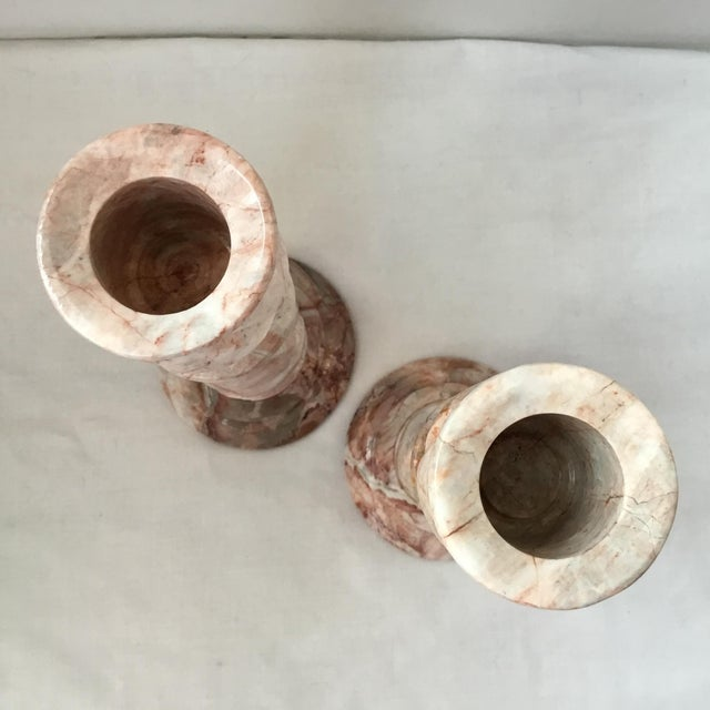 1970s Red Stone Candlesticks - a Pair For Sale In San Francisco - Image 6 of 11