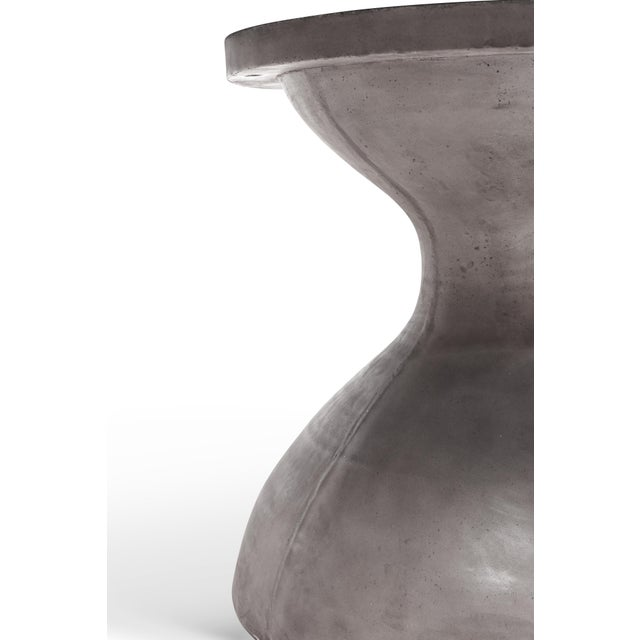 Hourglass Dining Table in Dark Gray For Sale - Image 4 of 7