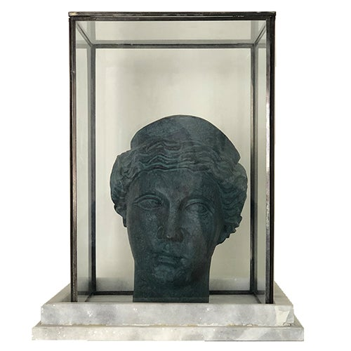 Mid 20th Century Brass Athenian Female Bust For Sale - Image 4 of 4