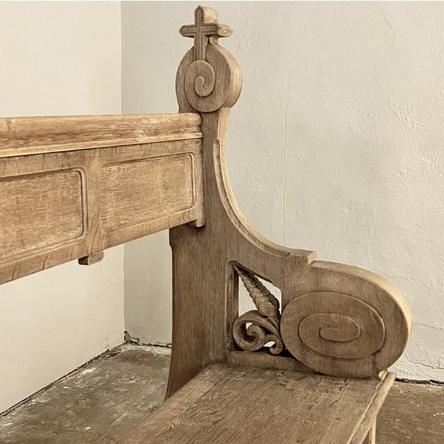 19th Century Gothic Revival Church Pew, Bench For Sale - Image 9 of 13