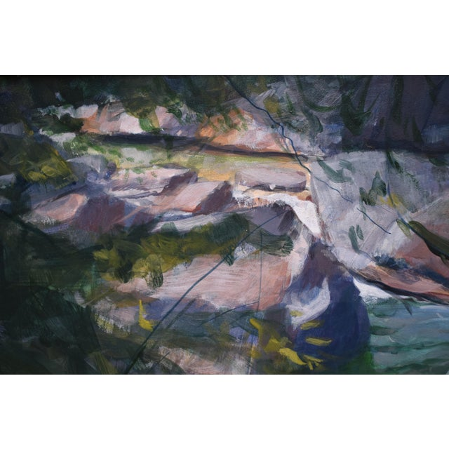 """2010s Stephen Remick """"Vermont Waterfall, Warren Falls"""" Contemporary Painting For Sale - Image 5 of 11"""