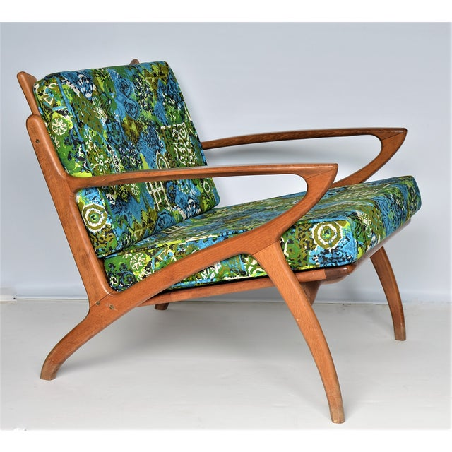 Mid Century Danish Modern Solid Teak Selig Style Lounge Chair --MCM Tropical Coastal Boho Chic Haute Bohemian For Sale - Image 12 of 12
