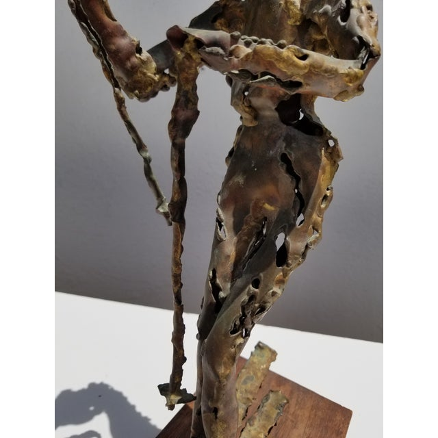 1970s Brutalist Art Torch Copper Table Sculpture For Sale In Miami - Image 6 of 10