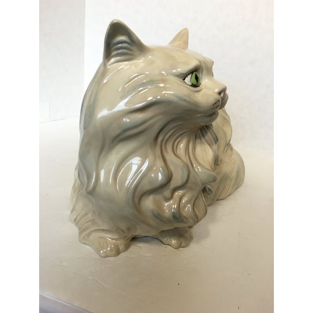 Vintage Ceramic Cat Statue - Image 5 of 6