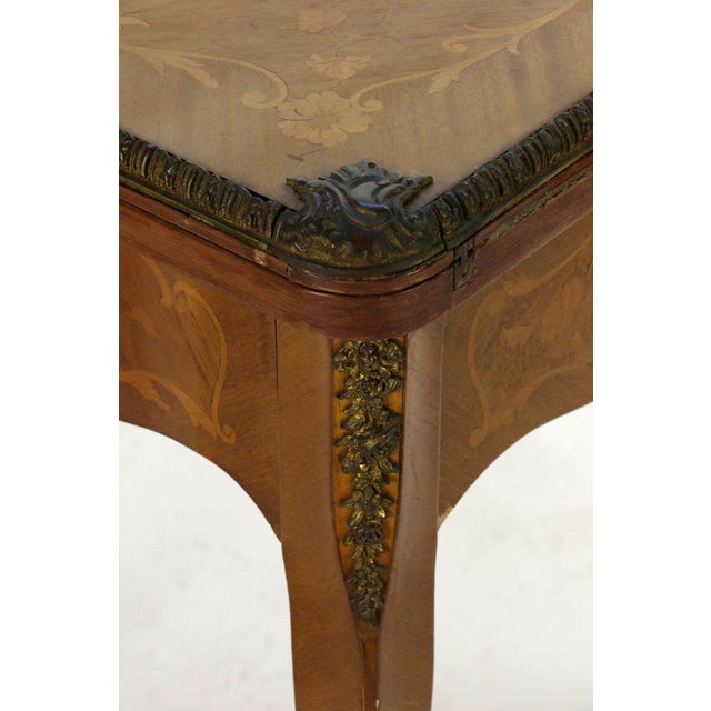 Late 19th Century 19th Century French Louis XVI Style Marquetry Game Table For Sale - Image 5 of 8