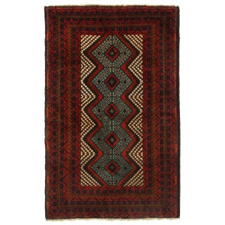 """Pasargad Ny Afghan Baluch Wool Rug - 3' X 4'8"""" For Sale"""