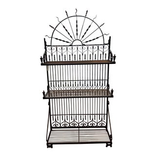 French Twisted Iron Bakers Rack