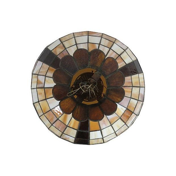 Stained Glass Light Fixture - Image 4 of 6