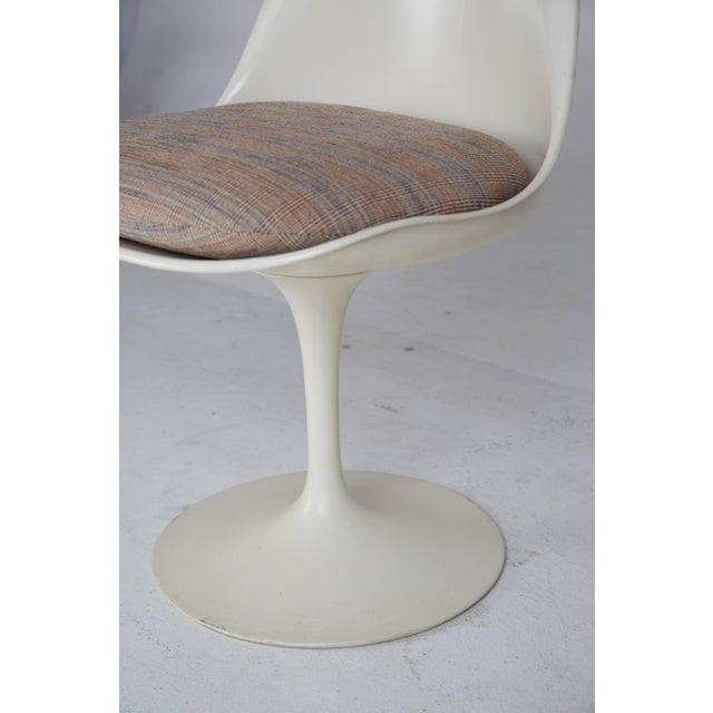Tan 1970s Eero Saarinen His and Hers Tulip Chairs for Knoll International - a Pair For Sale - Image 8 of 11