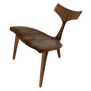 "Sculptural Walnut ""Whale"" Chair Morten Stenbaek For Sale"