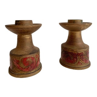Vintage Italian Ceramic Candlestick Holders For Sale