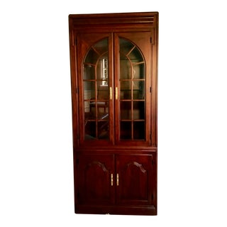 Harden Cherry China Cabinet For Sale