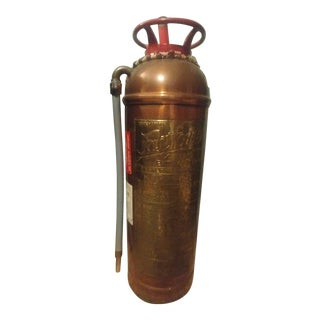 Vintage Fire Extinguisher From Pyrene Manufacturing Company Dated in 1970's For Sale