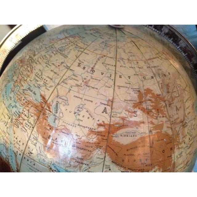 Vintage Globe on Pedestal For Sale In New York - Image 6 of 6