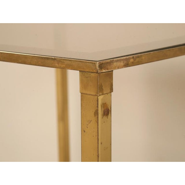 Gold Magical Vintage French Forties Design Two-Tier End/Side Table For Sale - Image 8 of 10