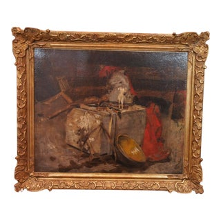 20th Century Still Life Painting by Georges Ernest Saulo For Sale