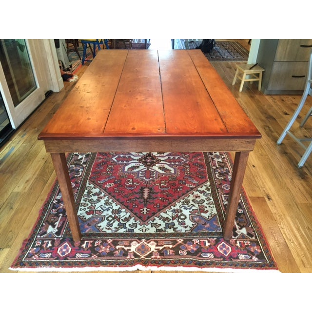 Reclaimed Wood Farm Table - Image 3 of 9