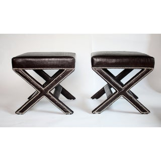 X-Bench in Faux Leather Alligator - a Pair Preview