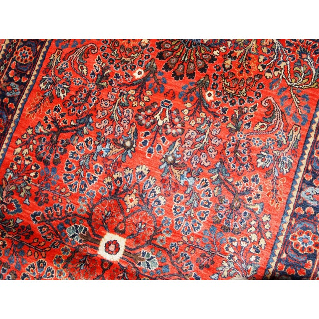 Islamic 1920s, Handmade Antique Persian Sarouk Rug 3.2' X 5.2' For Sale - Image 3 of 10
