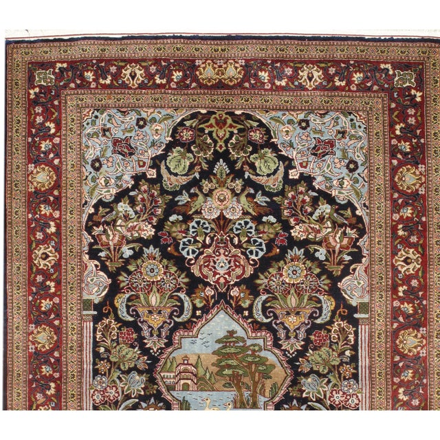Pasargad Persian Kashan designed, hand-knotted rug. Made of fine wool in Persia.