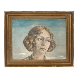Circa 1920s-1930's Portrait of a Young Woman For Sale