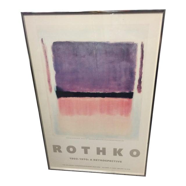 1978 Rothko Guggenheim Museum Poster For Sale