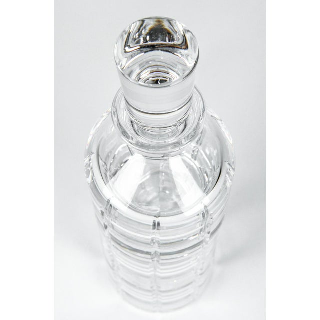 Cut Crystal Three Pieces Drinks Decanter For Sale - Image 4 of 10