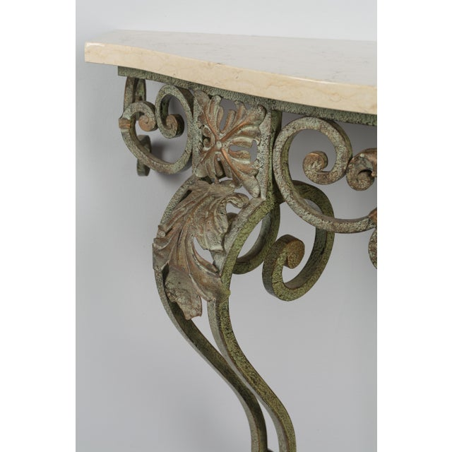 Iron French Louis XV Style Iron Console For Sale - Image 7 of 9