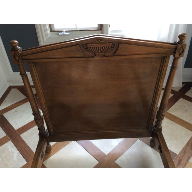 English Traditional 19th Century French Empire Walnut Bedframe For Sale - Image 3 of 13