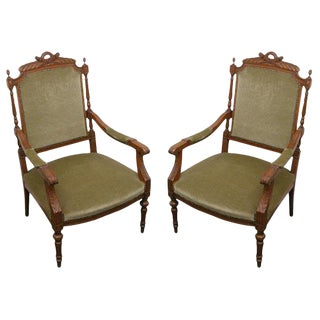 Louis XVI Armchairs - A Pair For Sale