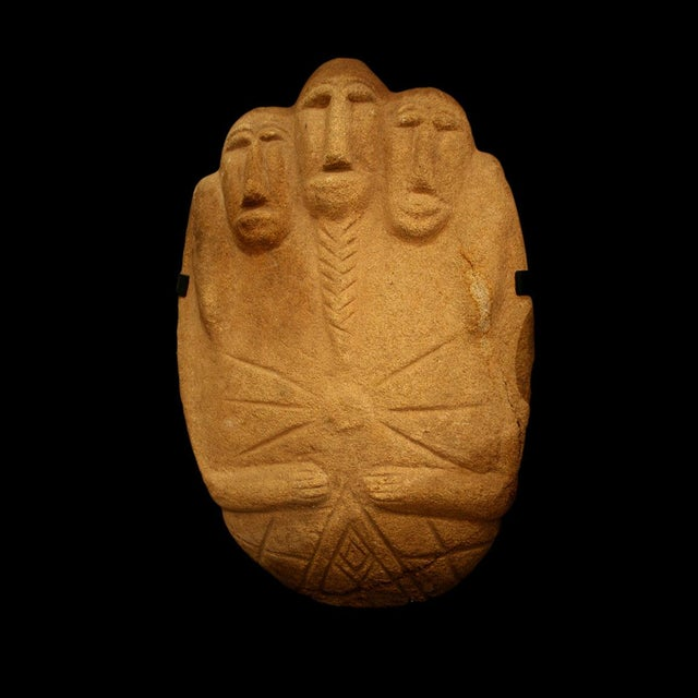 African Multifigural Stone Sculpture For Sale - Image 3 of 3