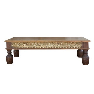 Vintage Takhat Carved Coffee Table