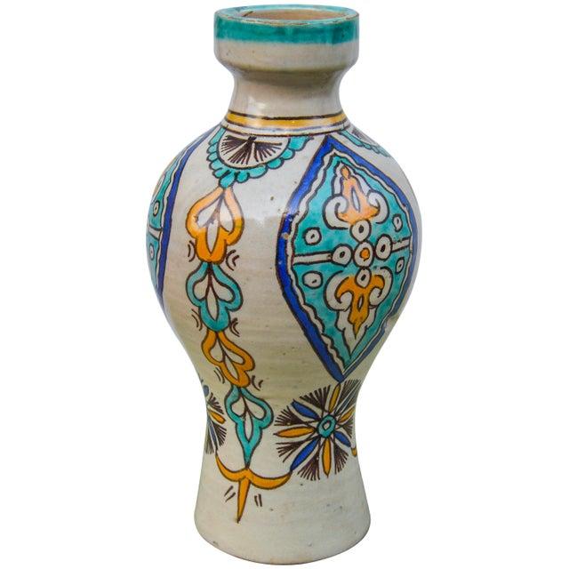 Moorish Ceramic Vase For Sale - Image 9 of 9