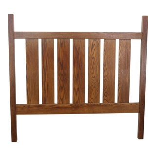 Mission Style Full Oak Bed Frame For Sale