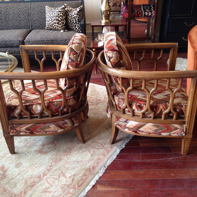 Vintage Barrel Back Club Chairs - A Pair - Image 5 of 11