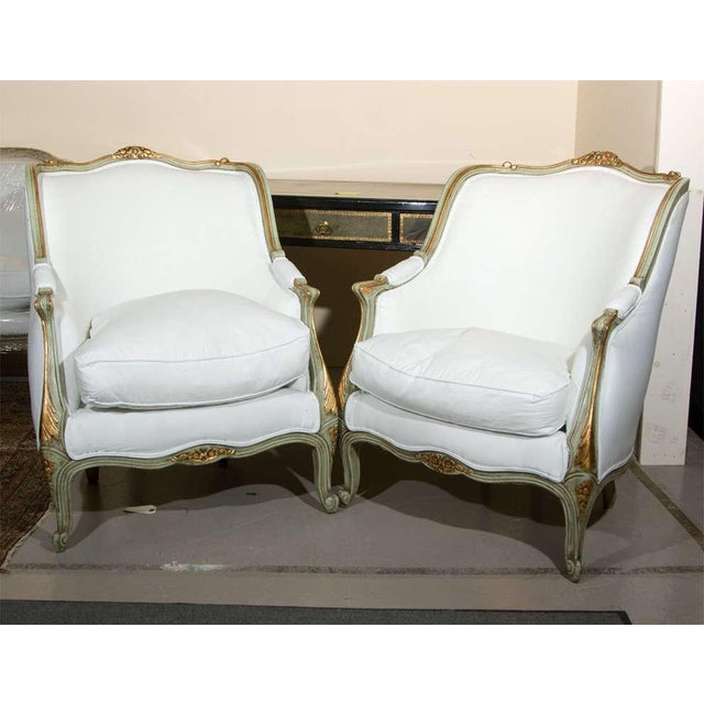 Louis XV Style Bergère by Jansen - A Pair - Image 2 of 10