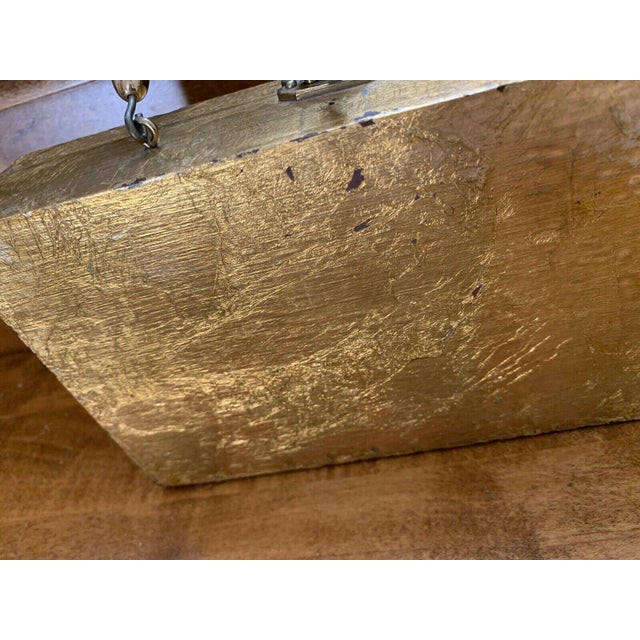 2000 - 2009 Gold Decor Wall Hanging Victorian Boxes - a Pair For Sale - Image 5 of 12