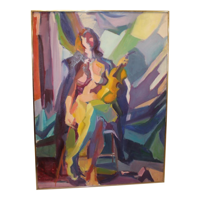 """""""Nude With Violin"""" by Barbara Yeterian For Sale"""