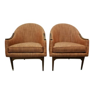 Vintage Mid-Century Modern Nemschoff Club Chairs- A Pair For Sale